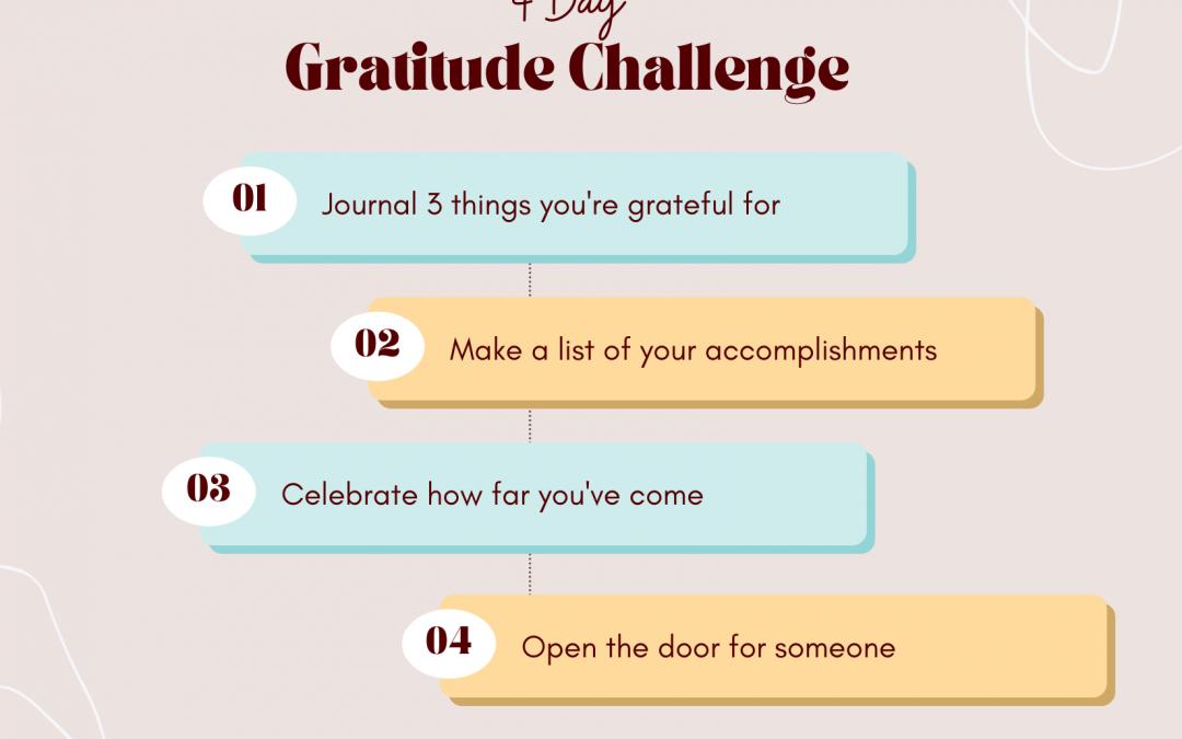 4 Day Gratitude Challenge